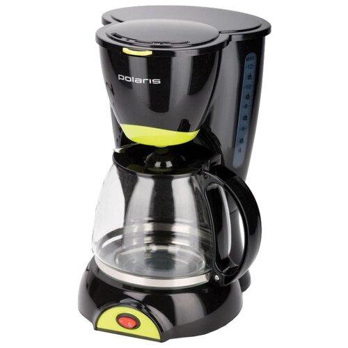 Кофеварка Polaris PCM 1211 (2014) черный/желтыйКофеварки и кофемашины<br>