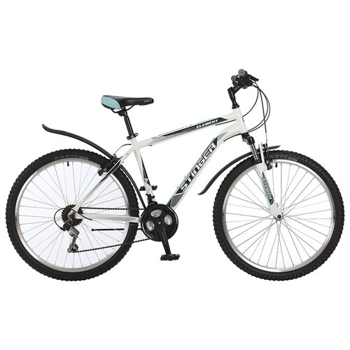 Горный (MTB) велосипед Stinger Element 26 (2017) белый 16 (требует финальной сборки) велосипед stinger cruiser l 26 рама 16 5 синий 1 скорость