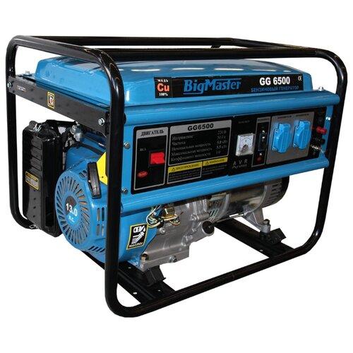 Фото - Бензиновый генератор BigMaster GG 6500 (5000 Вт) бензиновый генератор тсс sgg 5000 eh 5000 вт
