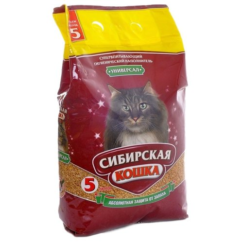 Наполнитель Сибирская кошка Универсал (5 л)Наполнители для кошачьих туалетов<br>