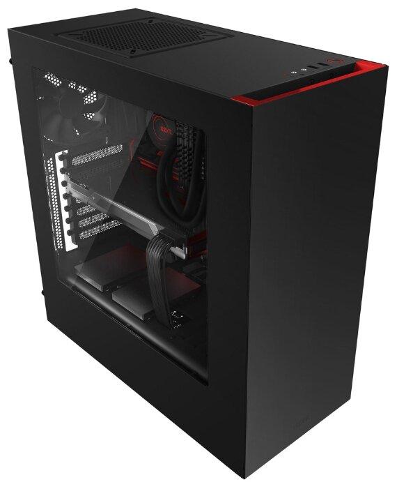 Компьютерный корпус NZXT S340 Black/red