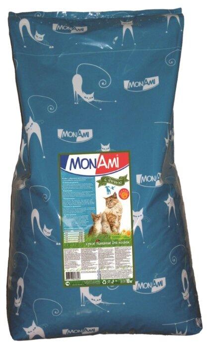MonAmi Сухой корм для кошек Дичь (10 кг)
