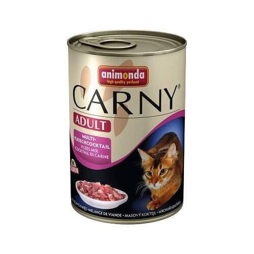 Корм для кошек Animonda Carny Adult для кошек с мультимясным коктейлем (0.4 кг) 1 шт.Корма для кошек<br>