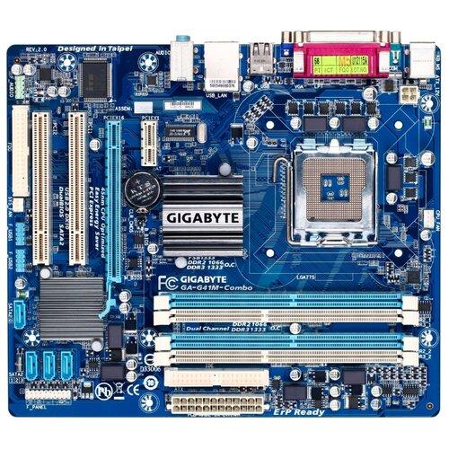 Фото - Материнская плата GIGABYTE GA-G41M-Combo (rev. 2.0) gigabyte ga f2a88xm hd3p