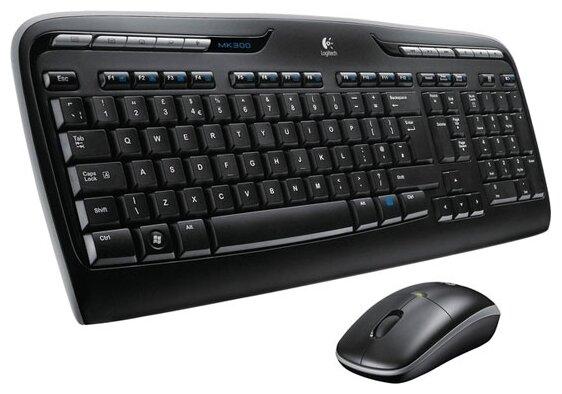 Клавиатура и мышь Logitech Wireless Combo MK330 Black USB