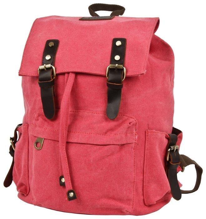 Рюкзак Polar П3062-01 красный брезент Красно-розовый 17,2 л