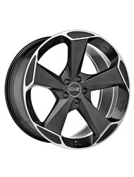 OZ 9,5x20/5x112 ET40 D72,56 Aspen HLT Matt Black + Diamond Cut - фото 1