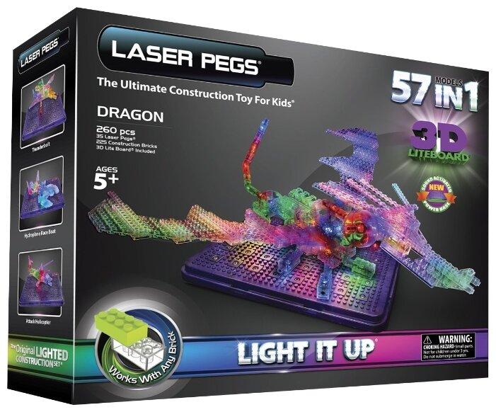 Laser Pegs 3D Lite Board G1070B Дракон 57 в 1