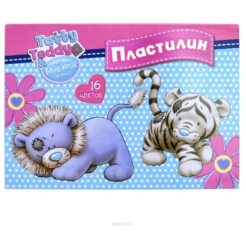Пластилин Action! Tatty Teddy 16 цветов