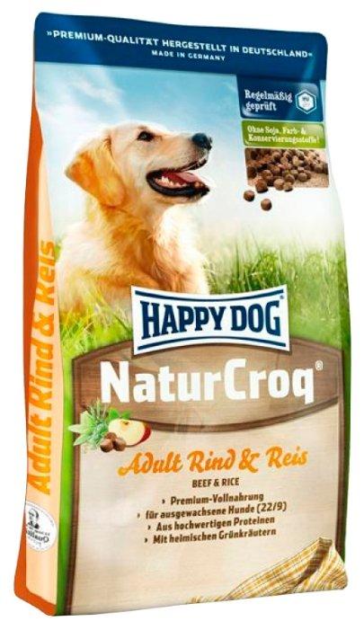 Корм для собак Happy Dog NaturCroq для здоровья кожи и шерсти, ягненок с рисом 1 кг