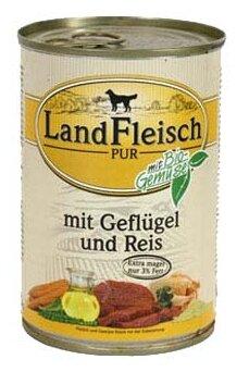 Корм для собак Dr. Alder`s ЛАНДФЛЯЙШ Деревенское мясо птица + рис + овощи рубленое мясо Для взрослых собак