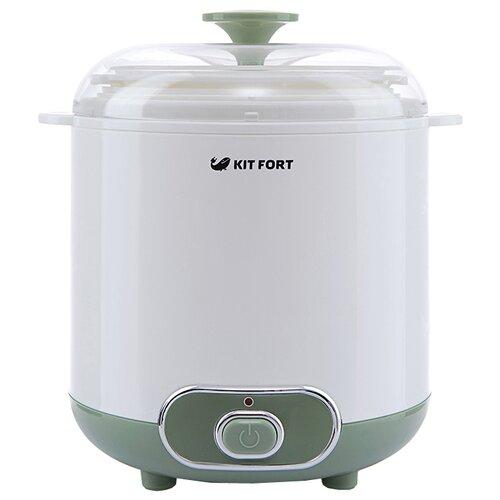 Йогуртница Kitfort КТ-2005 белый/зеленый