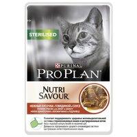 Корм для кошек Purina Pro Plan (0.085 кг) 1 шт. NutriSavour Sterilised feline with Beef in gravy