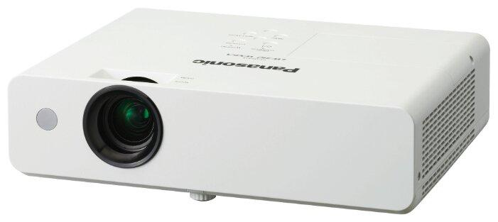 Panasonic PT-LW312E Мультимедийный LCD проектор, 3100 люмен, 1280x800, 16:10, 12000:1, 5000 ч, пр.отн. 1.48, зум 1.2, 2.9 кг., 37 дБ, Моно 10 Вт., верт.30 гр, гор.15 гр, HDMI, VGA, RCA, MiniJack, RCAx2, USB-A, USB-B, RS232, Белый
