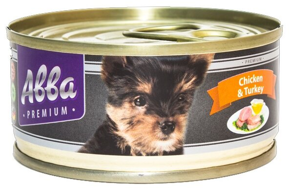 Корм для собак Авва Консервы Premium Puppy Chicken and Turkey