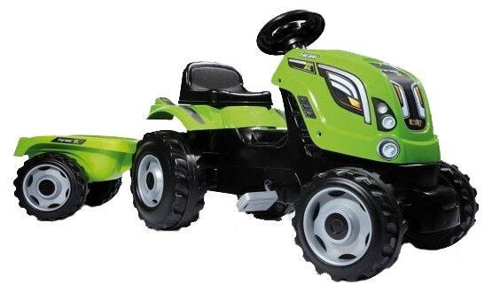 Веломобиль Smoby Трактор XL с прицепом
