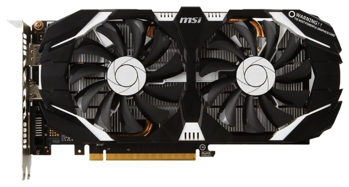 MSI GeForce GTX 1060 1544Mhz PCI-E 3.0 6144Mb 8008Mhz 192 bit DVI HDMI HDCP OC V1