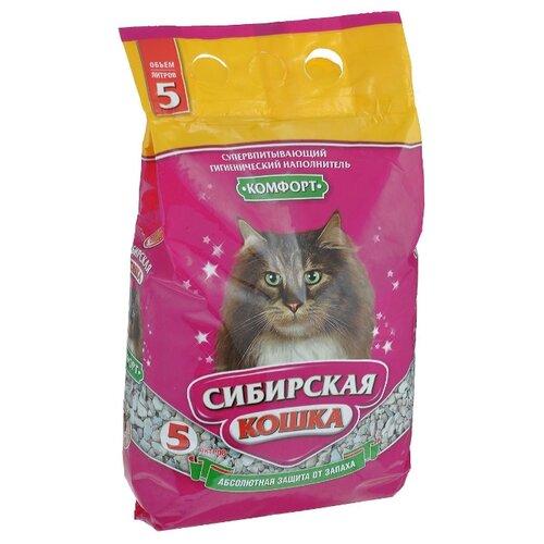Наполнитель Сибирская кошка Комфорт (5 л)Наполнители для кошачьих туалетов<br>