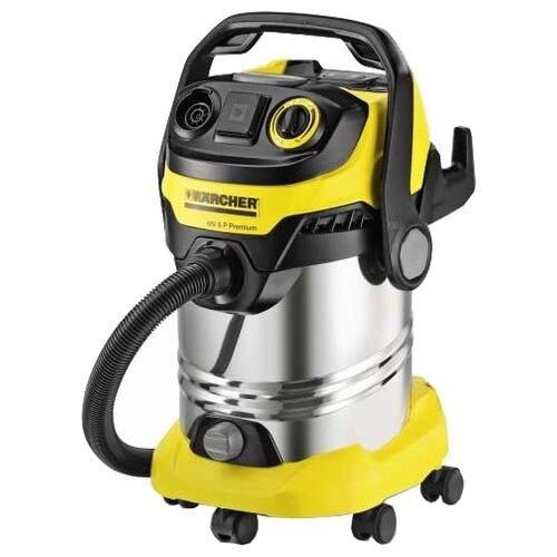 Профессиональный пылесос KARCHER WD 6 P Premium 1300 Вт черный/желтый/серебристый