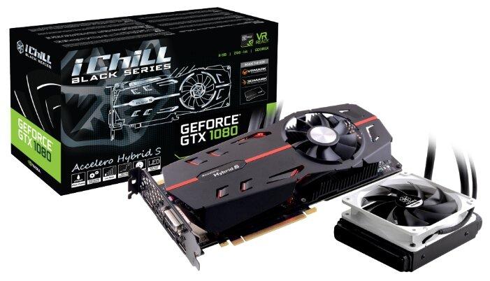 Inno3D Видеокарта Inno3D GeForce GTX 1080 1759Mhz PCI-E 3.0 8192Mb 10400Mhz 256 bit DVI HDMI HDCP Black