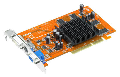 Видеокарта ASUS Radeon 9550 250Mhz AGP 128Mb 400Mhz 128 bit DVI TV