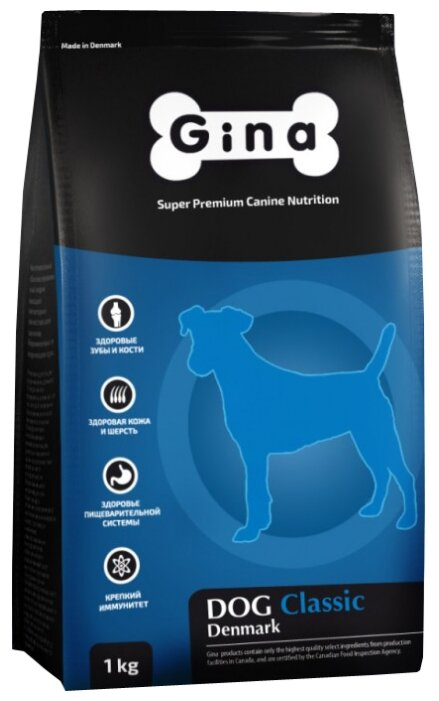 Корм для собак Gina Dog Classic (1 кг)