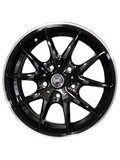 NZ Wheels F-34 BKPL 6x15/4x100 D54.1 ET48 - фото 1