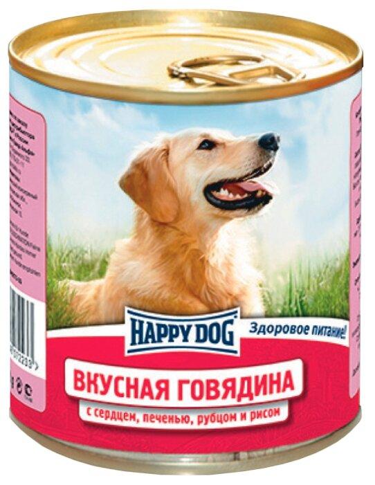 Корм для собак Happy Dog NaturLine говядина, печень, сердце, рубец с рисом 750г