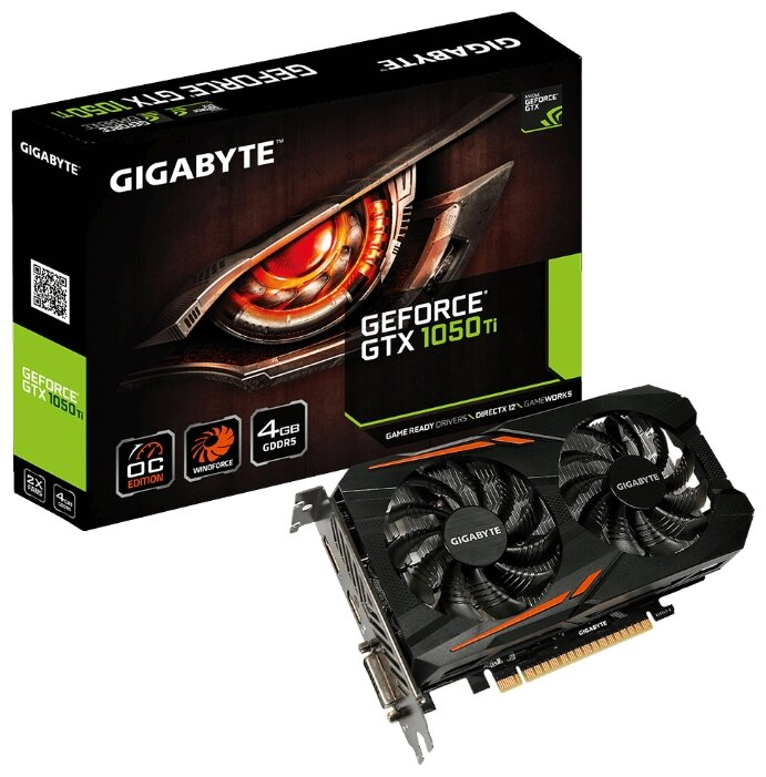Видеокарта GIGABYTE GeForce GTX 1050 Ti 1316MHz PCI-E 3.0 4096MB 7008MHz 128 bit DVI HDMI DisplayPort HDCP OC
