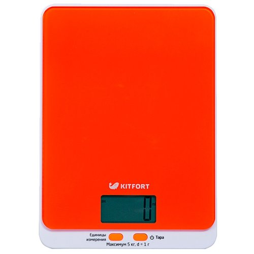 Кухонные весы Kitfort КТ-803 оранжевый
