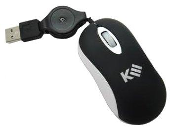 Мышь k-3 SMALL Black-Silver USB