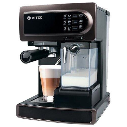 Фото - Кофеварка рожковая VITEK VT-1517, коричневый кофеварка vitek vt 1503