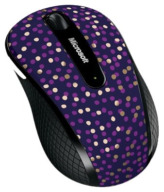 Мышь Microsoft Wireless Mobile Mouse 4000 Limited Edition Eggplant Dot Blue Pink USB