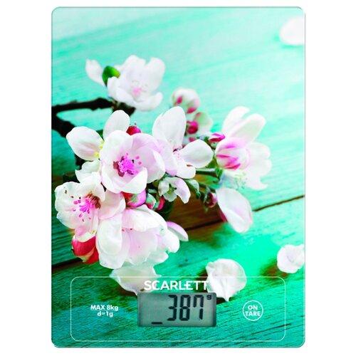 Кухонные весы Scarlett SC-KS57P20 бирюзовый/белый/розовый