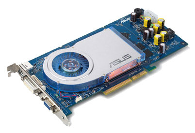 Видеокарта ASUS GeForce 6800 325Mhz AGP 128Mb 700Mhz 256 bit DVI TV