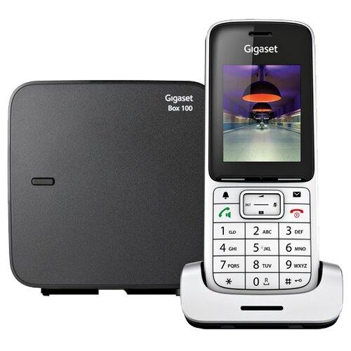 Радиотелефон Gigaset SL450 серебристый/черный