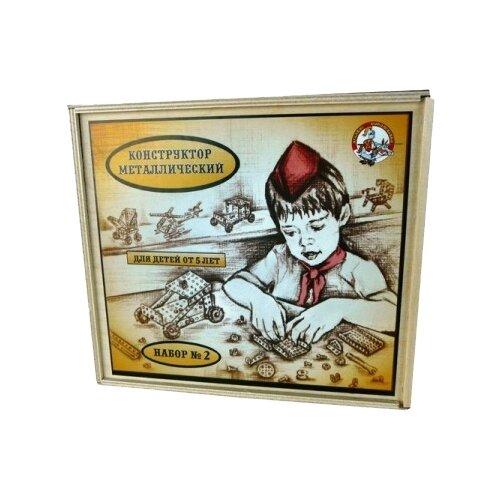 Купить Винтовой конструктор Десятое королевство Конструктор металлический для уроков труда 00981 2 в деревянной упаковке, Конструкторы