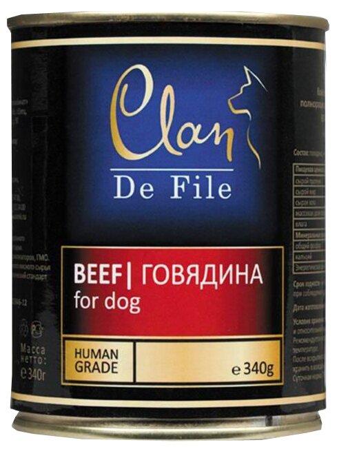Корм для собак CLAN De File Говядина для собак (0.340 кг) 1 шт.