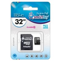 Карта памяти SmartBuy microSDXC Class 10 10MB/s 32GB + SD adapter SB32GBSDCL10-01