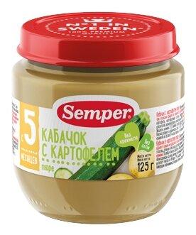 Пюре Semper кабачок с картофелем (с 5 месяцев) 125 г