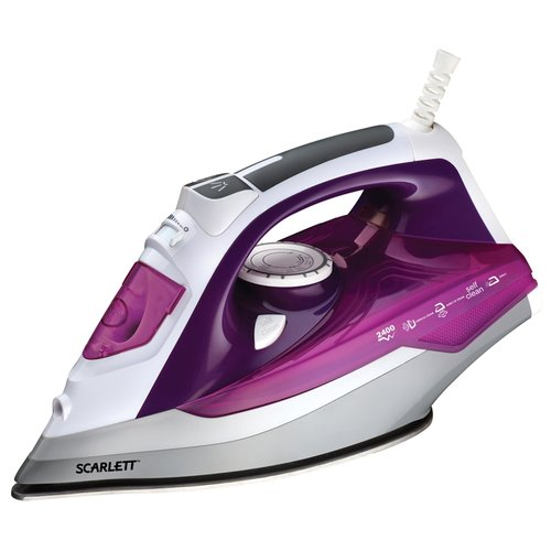 Утюг Scarlett SC-SI30P05 фиолетовый/серый/белый scarlett sc hs60t52 серый