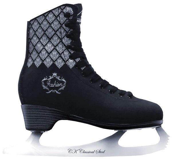 Женские коньки СК (Спортивная коллекция) Fashion Lux Black (взрослые)