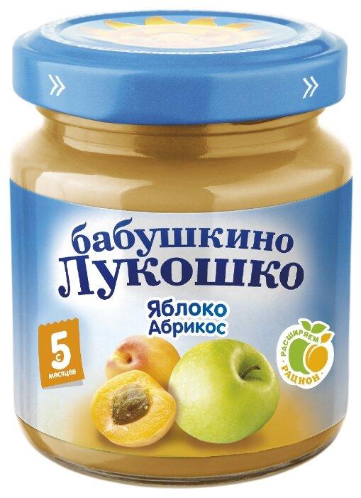 Пюре Бабушкино Лукошко яблоко-абрикос (с 5 месяцев) 100 г, 1 шт
