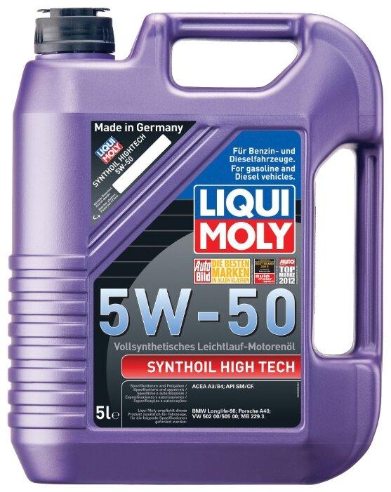 Моторное масло LIQUI MOLY Synthoil High Tech 5W-50 5 л