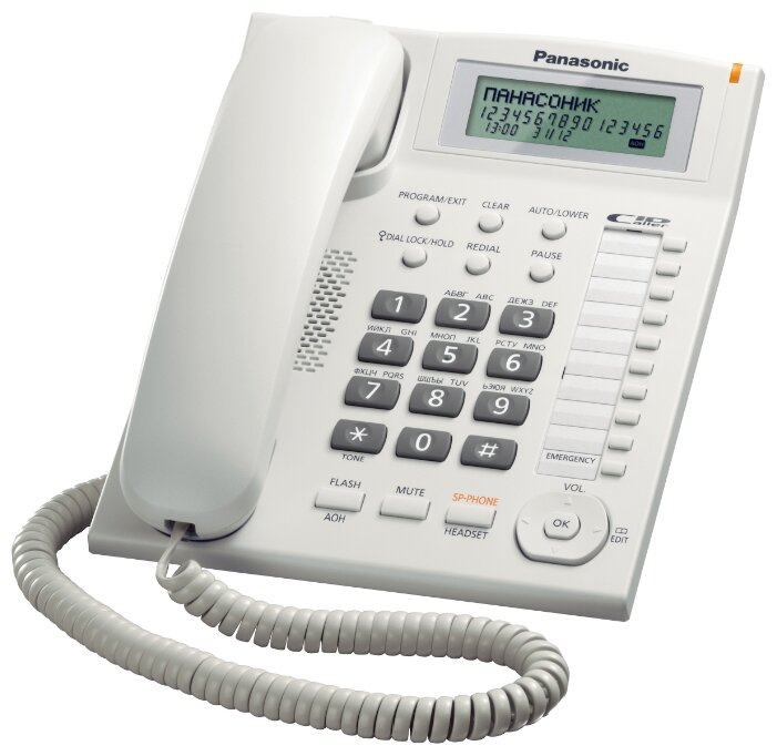 Телефон Panasonic KX-TS2388RUW, белый