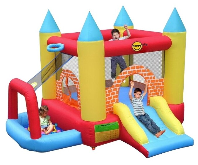 Надувной комплекс Happy Hop Мини замок 4 в 1 9114