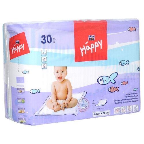 Купить Одноразовые пеленки Bella Baby happy 60x60 30 шт., Пеленки, клеенки