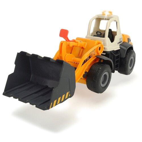 Фото - Погрузчик Dickie Toys Дорожно-погрузочная машина (3726000) 35 см желтый/белый погрузчик dickie toys дорожно погрузочная машина 3726000 35 см желтый белый