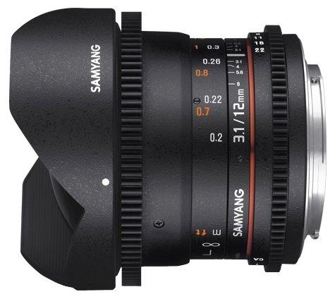 Samyang Объектив Samyang 12mm T3.1 ED AS NCS VDSLR Fish-eye Samsung NX
