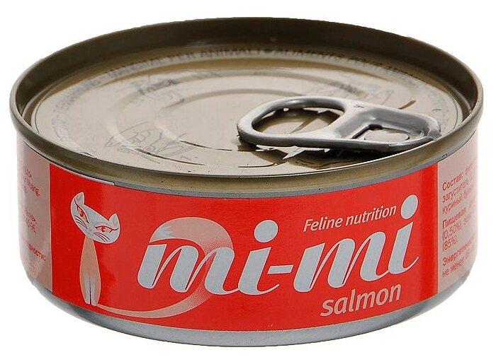 Mi-Mi Для кошек и котят Лосось (0.08 кг) 1 шт.